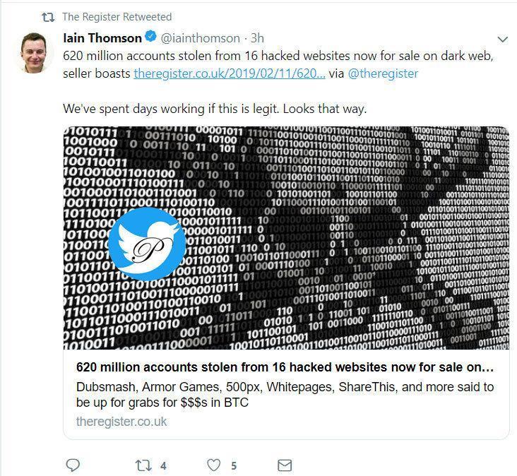 اسامی سایت هایی که از آن ها 617 میلیون اکانت و پسورد سرقت شد