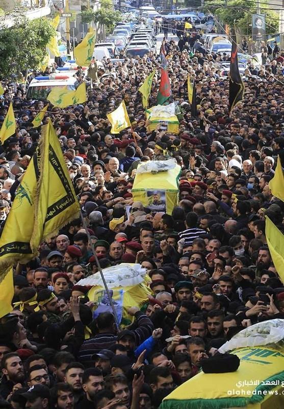 لبنان، تشییع پیکر شهدای حزب الله