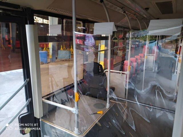 اجرای فاصله گذاری اجتماعی در اتوبوس های تهران از 23 فروردین