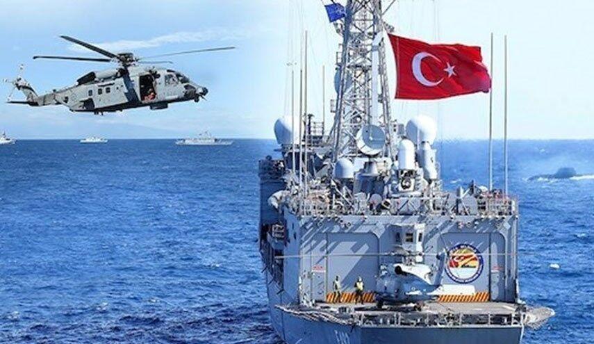 دریای مدیترانه جولانگاه رزمایش هوایی- دریایی ترکیه